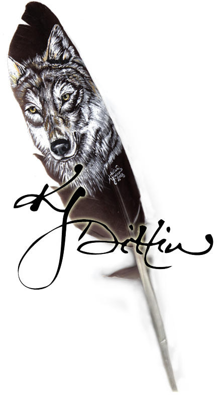 Gray wolf feather by dittin03 on deviantart for Wolf tattoo with feathers