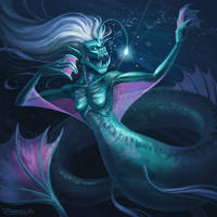 Abyssal Mermaid by DanielvoArt