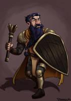 Cleric Dwarf by DanielvoArt