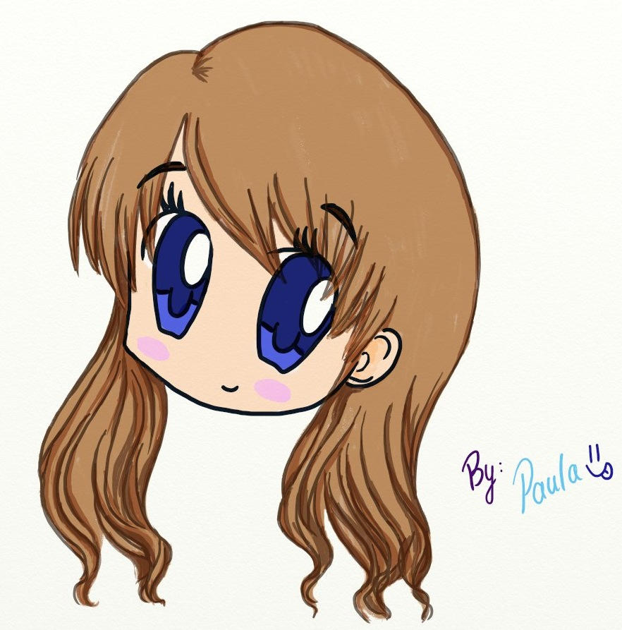 First Tablet Drawing Chibi Girl By Azupaula On Deviantart