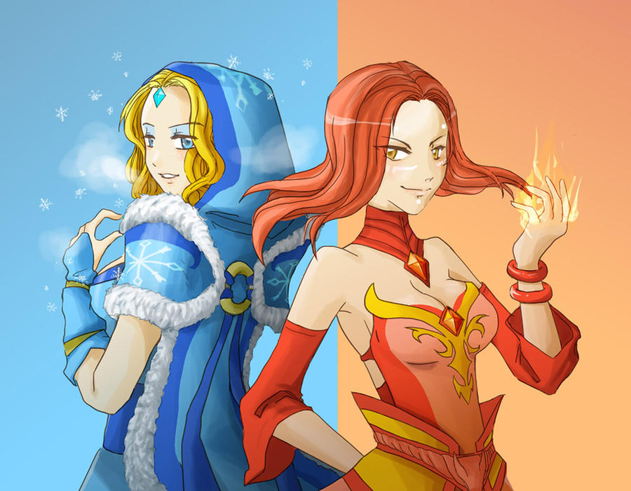 Dota2 - Fire and Ice by spidercandy
