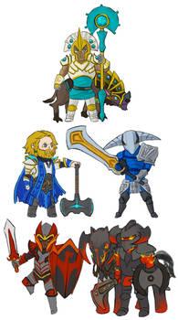 Dota 2 - chibi Knights