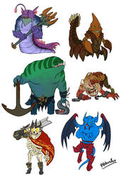 Dota 2 - Mini Dire STR heroes part 1 by spidercandy