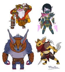 Dota 2 - Mini Radiant AGI heroes part 2 by spidercandy