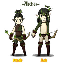 Reverse game stereotype design - Archer by spidercandy