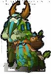 Dota 2 Cybormatt and his trusty courier Shagbark