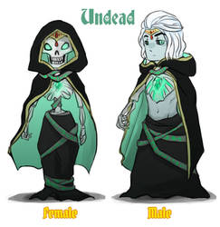 Reverse game stereotype design - Undead