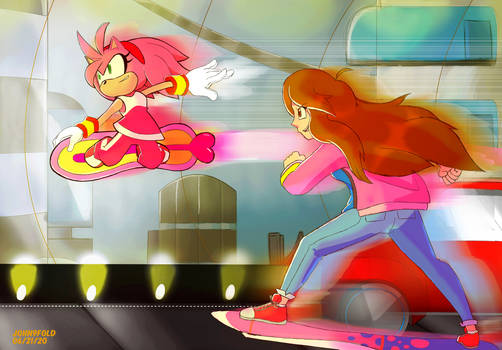 [Commission] Callie and Amy thru the Tunnel