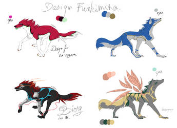Wolves Adoptables 4 [CLOSED] by Funkimina