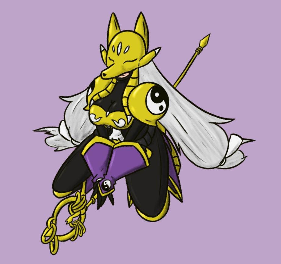 Digimon Gal Pinup Sakuyamon by Deterex525