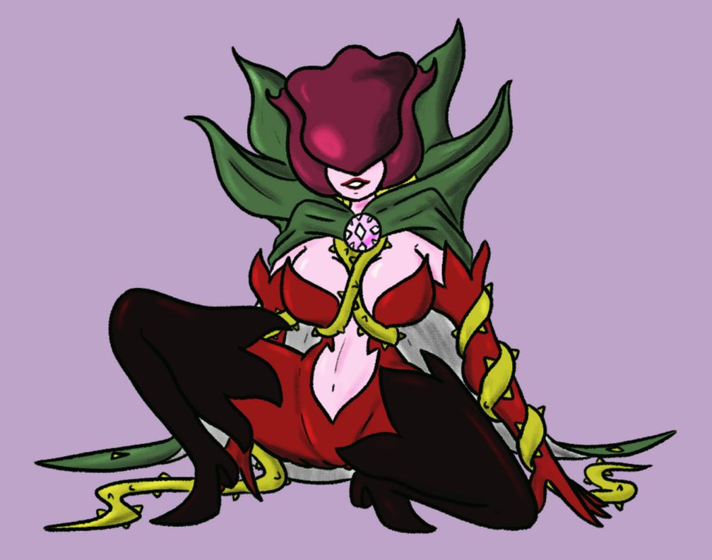 Digimon Gal Pinup Rosemon by Deterex525