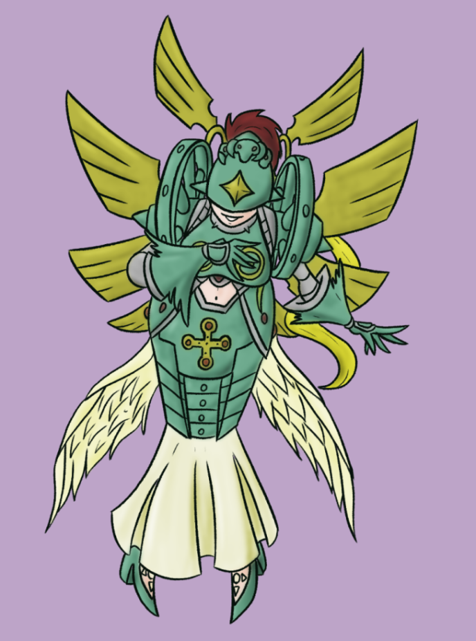 Digimon Gal Pinup Ophanimon by Deterex525
