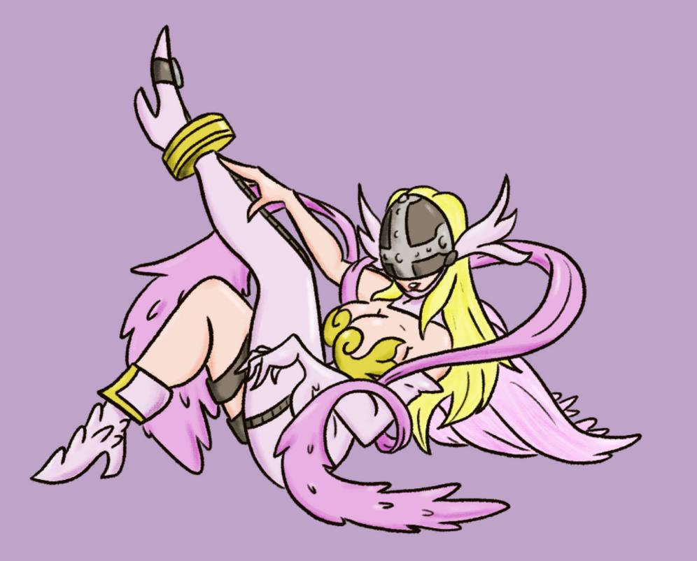 Digimon Gal Pinup Angewomon by Deterex525