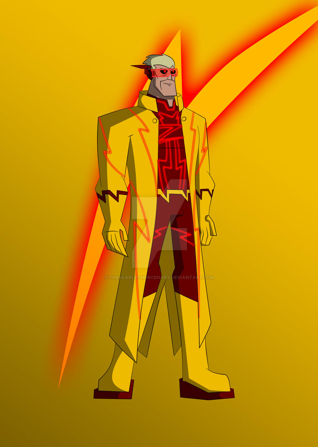 Cams DCAU Professor Zoom By TheScarletMercenary