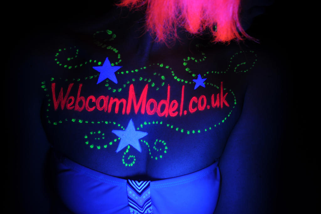 Webcam Model Neon body art by HotUrban