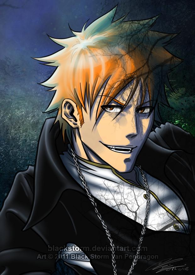 BLEACH -vamp Kurosaki Ichigo- by blackstorm