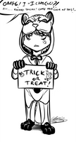 Trick or Treat doodle by blackstorm
