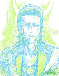 LOKI -rough portrait doodle-