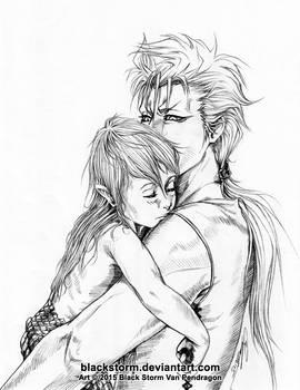 Papa Grimmjow and little naga Shirosaki