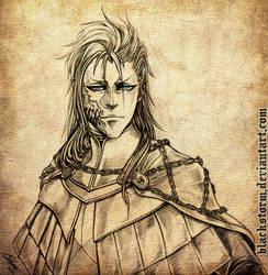 GRIMMJOW : Bloodborne AU portrait comm