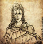 GRIMMJOW : Bloodborne AU portrait comm by blackstorm
