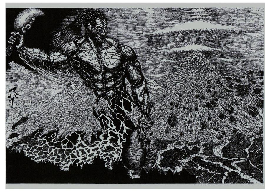 RUAUMOKO -God of Volcanoes Earthquakes and Seasons by StonedSmeagol