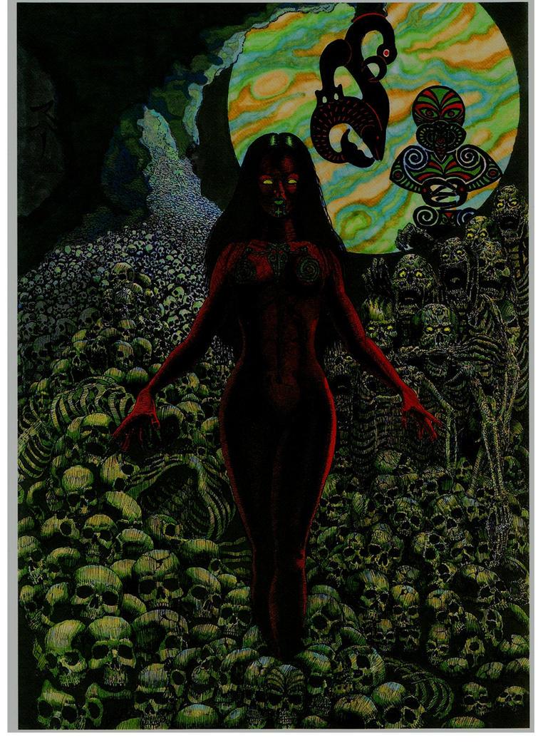 HINENUITEPO Goddess of Night and of the Underworld by StonedSmeagol