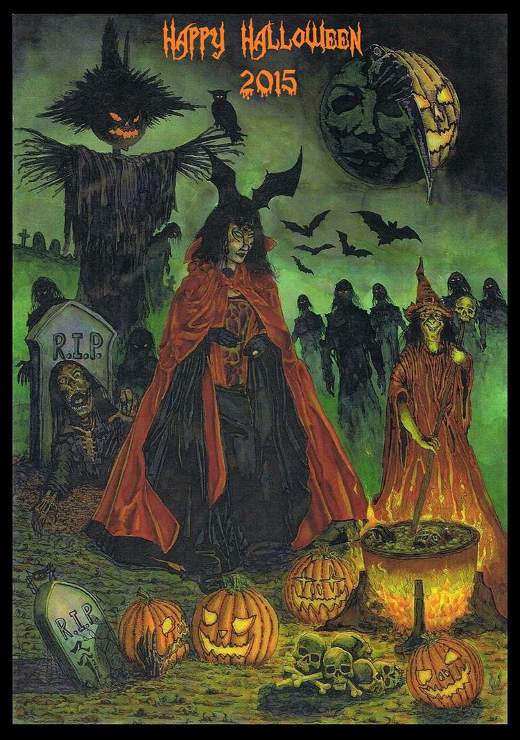 Happy Halloween 2015 (for my Deviantart watchers) by StonedSmeagol