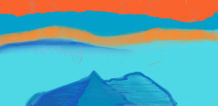 Alien Rain on them Blue Mountains by TheHarf