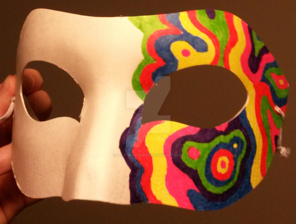 Psychedelic Masquerade Mask by Miltonholmes