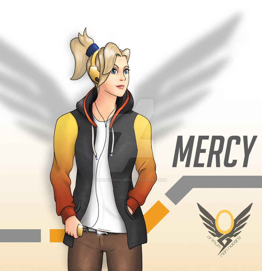 Casual Overwatch - Mercy by Miltonholmes