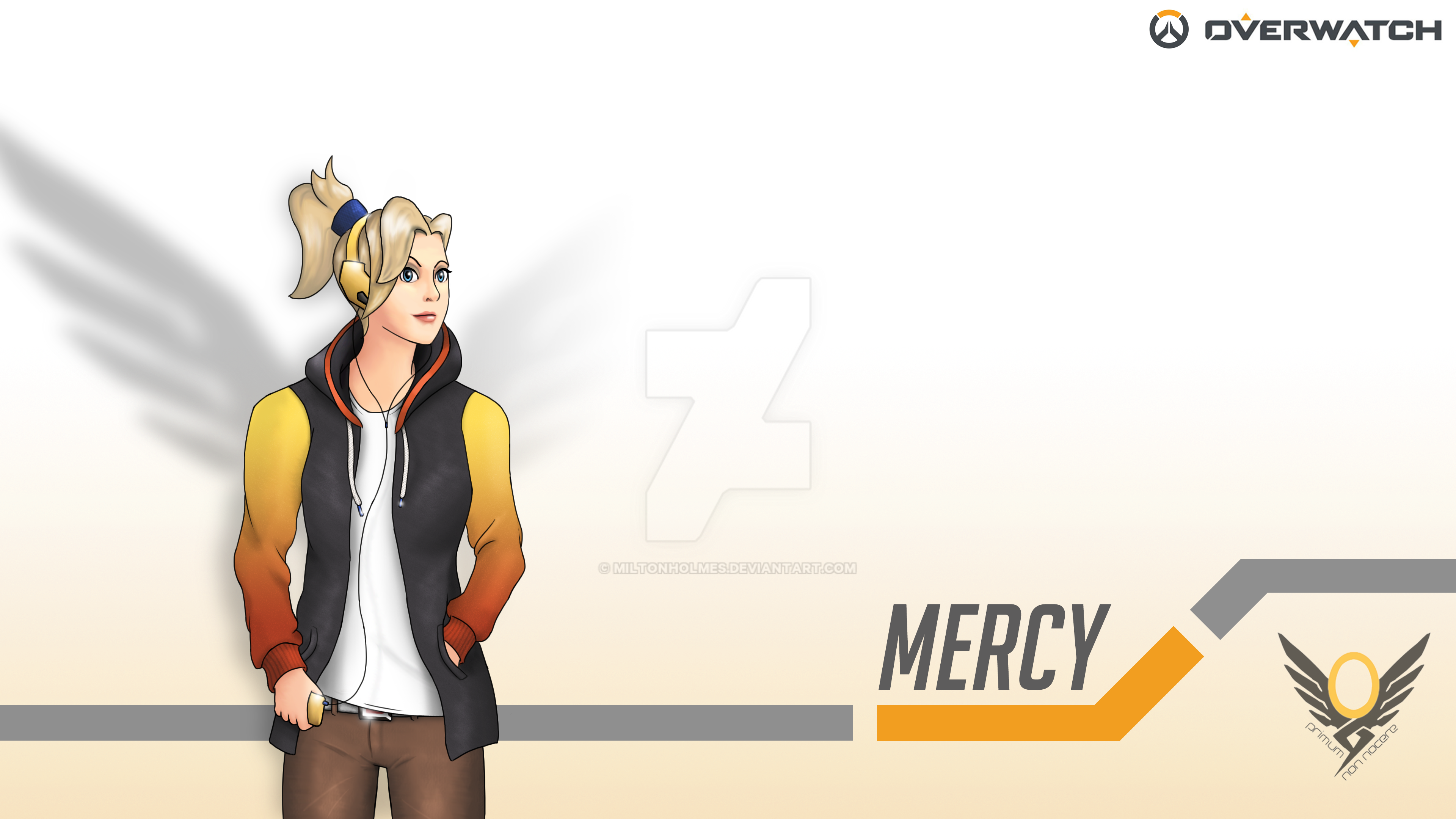 Casual Overwatch - Mercy (4K Wallpaper) by Miltonholmes