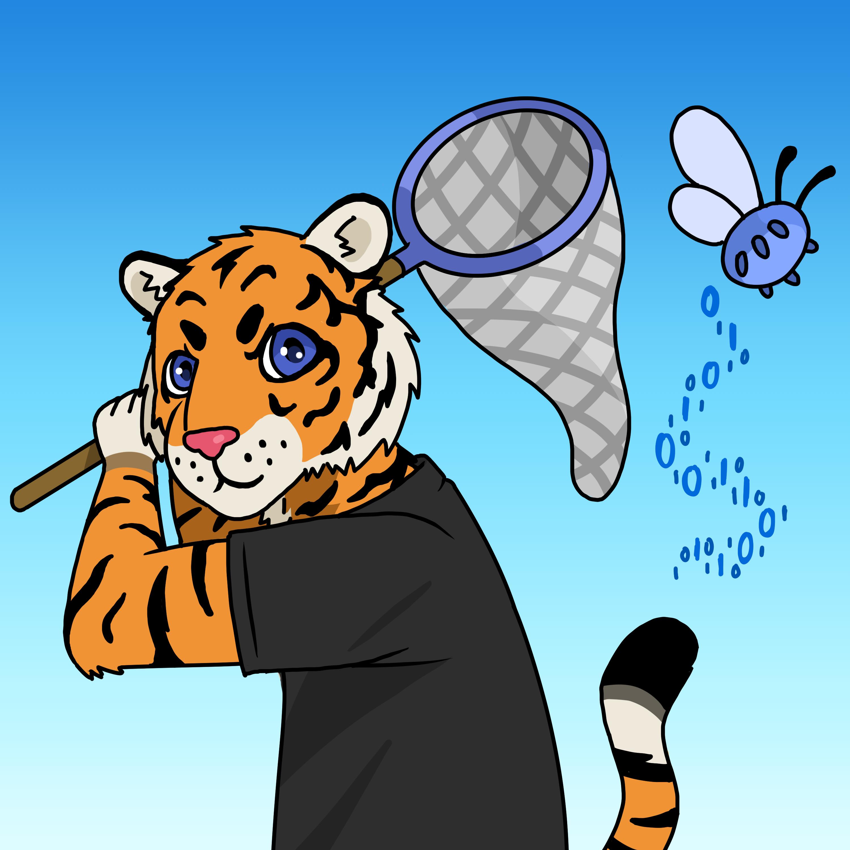 Tech Tiger Catches a Bug by Miltonholmes