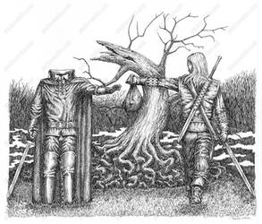 Geralt and the hessian by Celebrau