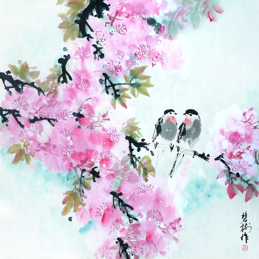 chinese traditional flowers and birds by taobishu on deviantart, Beautiful flower