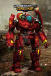 Crimson Dynamo (GRF-3M Fan Art Repaint)