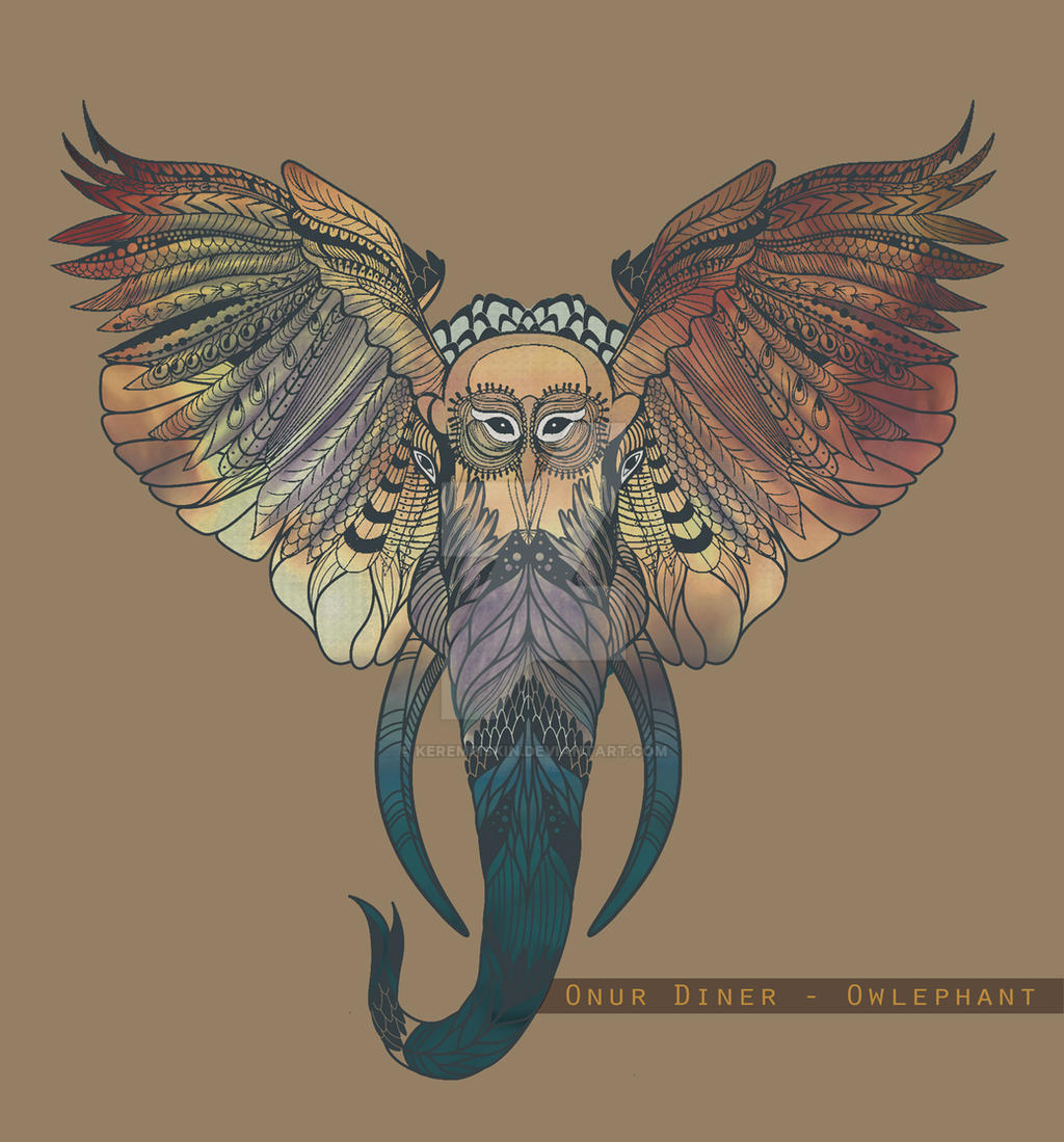 Owlephant by kerempiskin