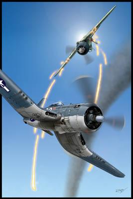 Corsair vs A6M-52 Hei