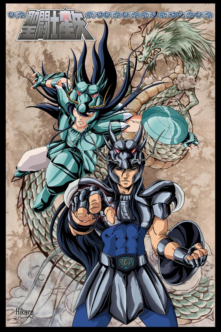 Shiryu vs Black Dragon by Hikaru84