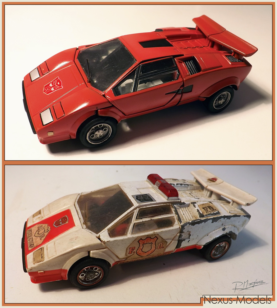 Sideswipe G1- Repaint from a 1982 Red Alert by Hikaru84