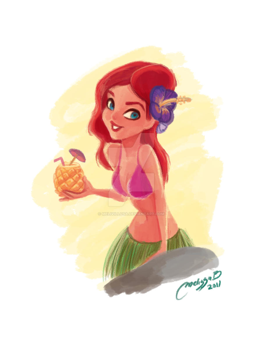 girl pineapple by melivillosa