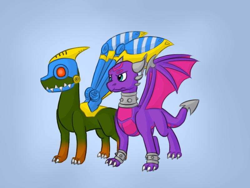 AT - Cynder and Drobot Skylanders by Darkselia on DeviantArt