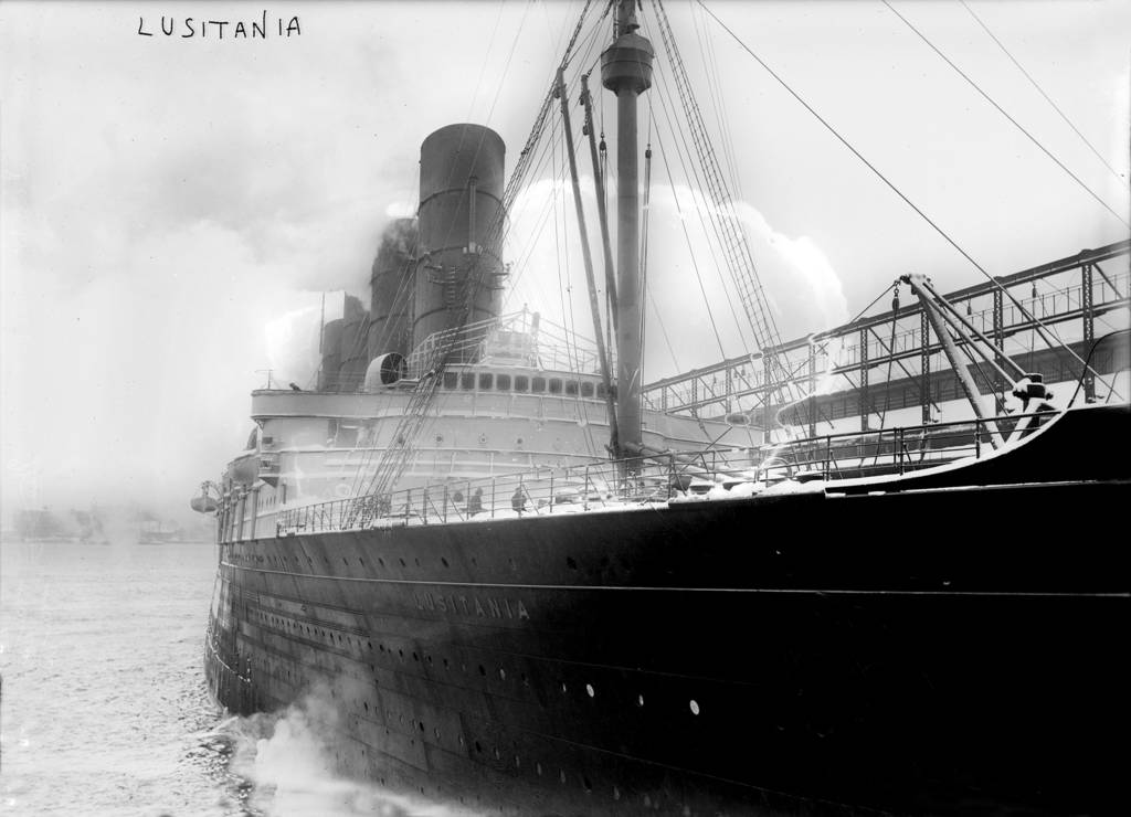 Lusitania 1907 sunk by U20 off Kinsale Head 7th Ma by lichtie