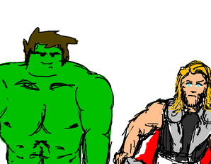 Hulk no like Thor! by thedbp