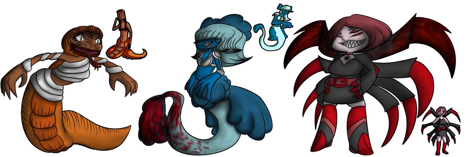 Monster Girls Challenge 2 by pokedragonS8