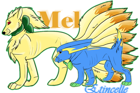 Etincelle the Shiny Electrike & Melanie the Blinded Ninetales (Olivine, Johto) Dual_char_now_by_danielle995-d50wp1p