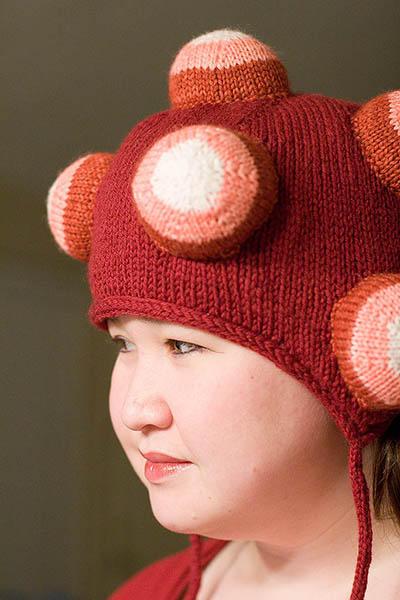 knit Katamari Damacy hat by monkeyjunkie