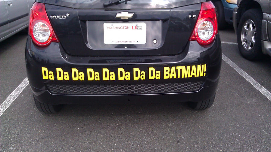 Batman car bumper sticker by chaviso2