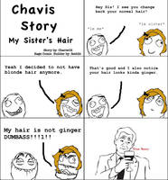 Chavis Story: My Sister's Hair by ChavisO2