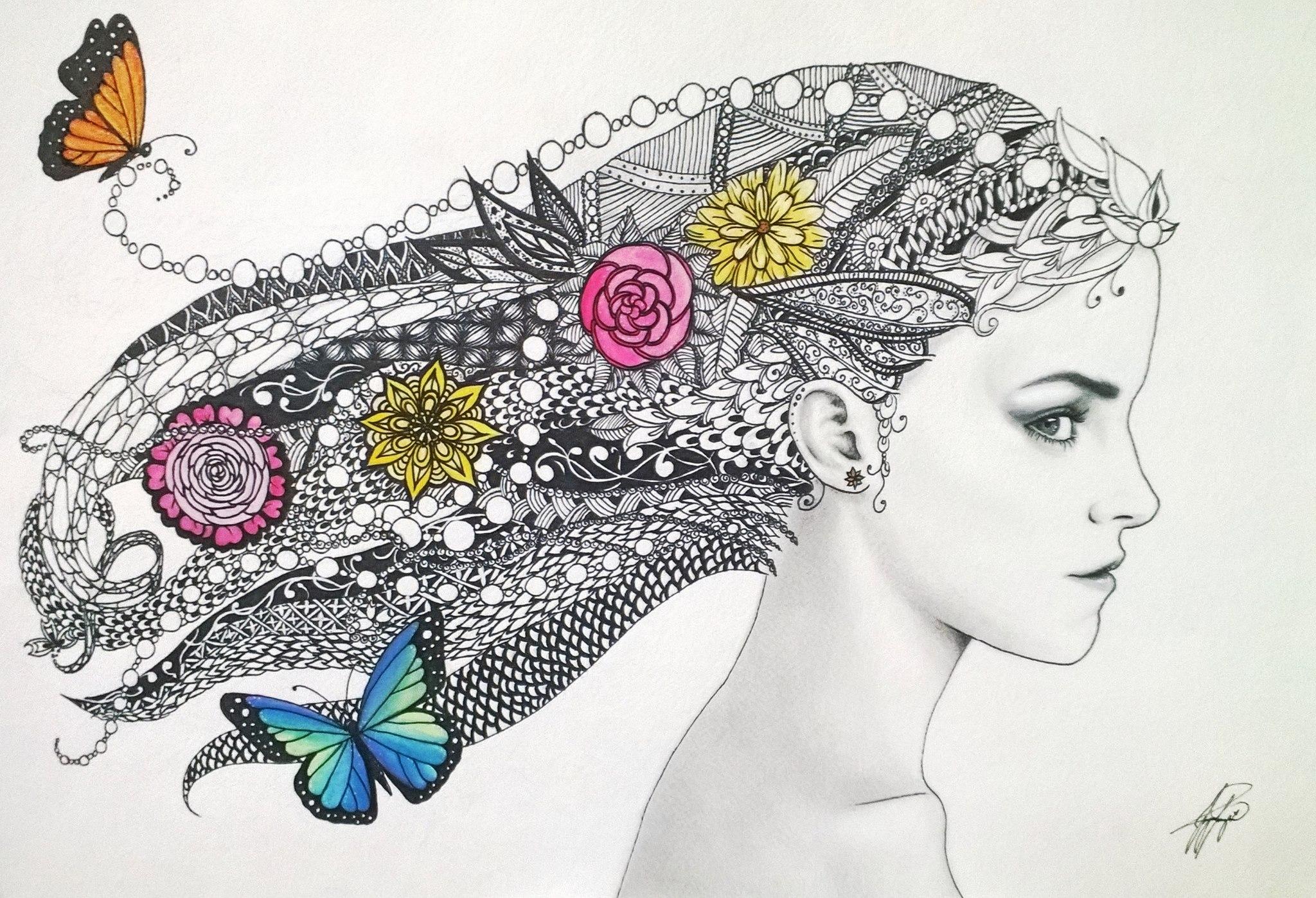 Zentangle Art by iMeganruby on DeviantArt Wow Face Clip Art